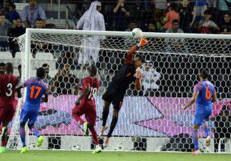 Indian national team goalkeeper Gurpreet Singh Sandhu during a match. (Photo courtesy: AIFF Media)