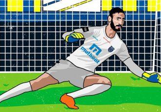 Kerala Blasters FC goalkeeper Prabhsukhan Gill. (Image courtesy: Kerala Blasters FC)