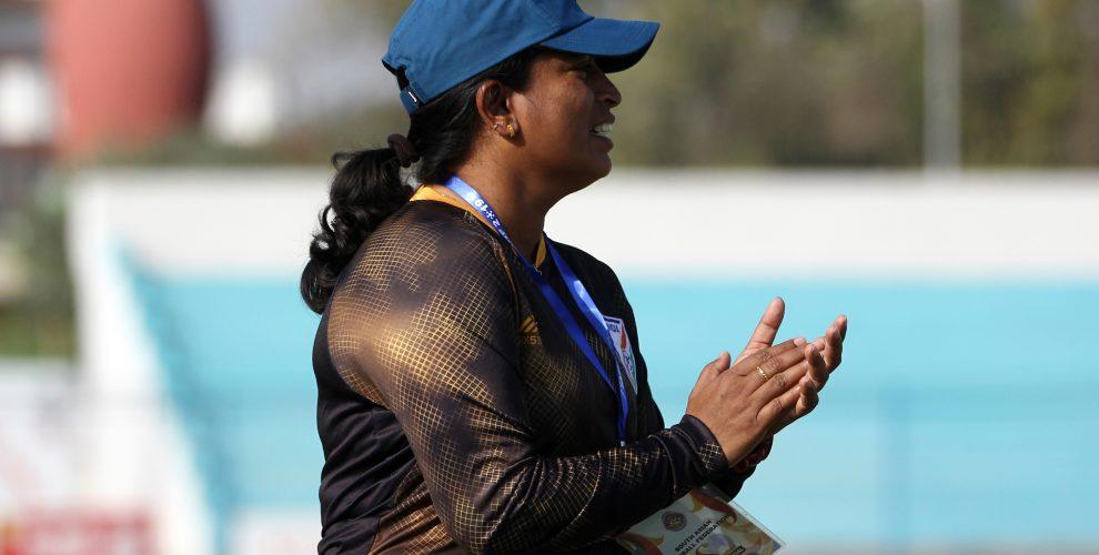 Indian Women's national team head coach Maymol Rocky. (Photo courtesy: AIFF Media)