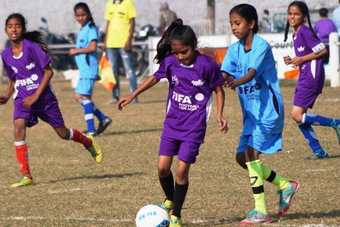 Golden Baby League match action in Rurka Kalan. (Photo courtesy: AIFF Media)