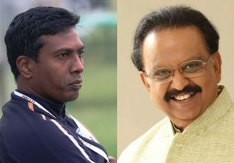 Shanmugam Venkatesh and SP Balasubrahmanyam (Photo courtesy: AIFF Media)