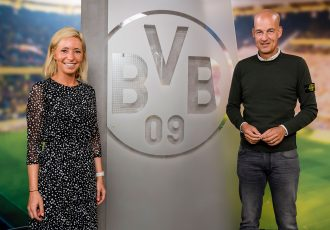 Borussia Dormund's Head of Girls & Women's Football Svenja Schlenker and Managing Director Carsten Cramer. (Photo courtesy: Borussia Dortmund GmbH & Co. KGaA)
