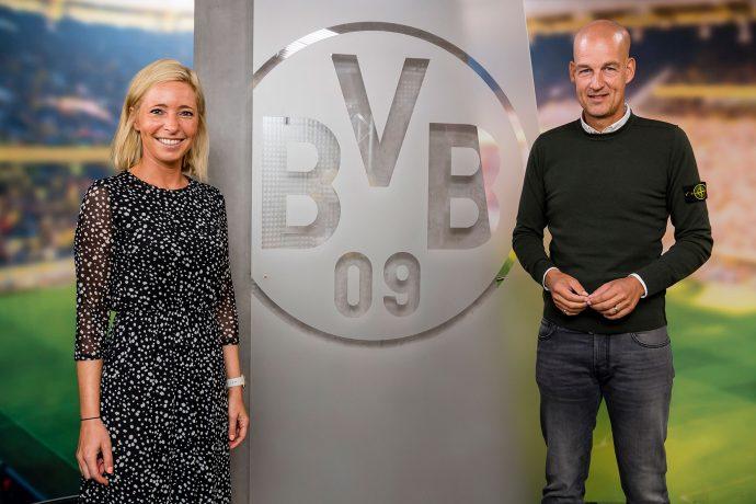 Borussia Dormund's Head of Girls & Women's Football Svenja Schlenker and Managing Director Carsten Cramer. (Photo courtesy: Borussia Dortmund GmbH & Co. KGaA)