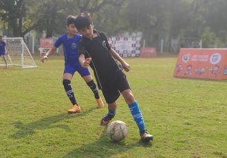 Golden Baby League matach action. (Photo courtesy: AIFF Media)