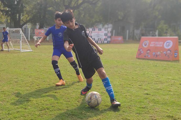 Golden Baby League matach action. (Photo courtesy: AIFF Media)