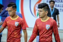 Indian national team players Amarjit Singh Kiyam and Anirudh Thapa. (Photo courtesy: AIFF Media)