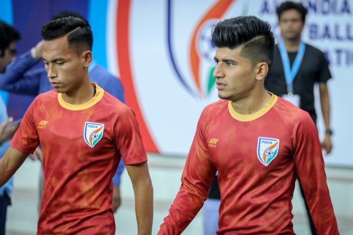 Indian national team players Amarjit Singh Kiyam and Anirudh Thapa. (Photo courtesy: AIFF Media)