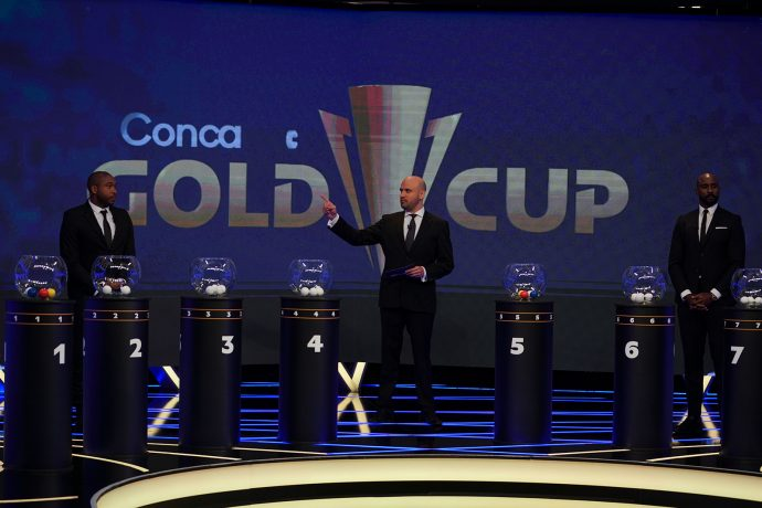 2021 Concacaf Gold Cup draw ceremony. (Photo courtesy: Concacaf.com / Straffon Images)