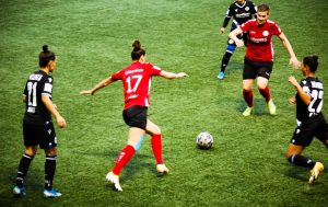 DFB Women's Cup Round 1 match action between FSV Gütersloh 2009 and DSC Arminia Bielefeld. (© CPD Football)
