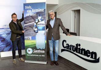 Markus Rejek, Managing Director, DSC Arminia Bielefeld and Maik Ramforth-Wüllner, Managing Director, Carolinen. (Photo courtesy: DSC Arminia Bielefeld)