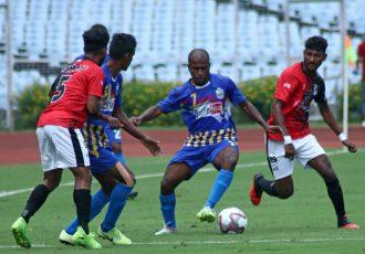 Hero I-League Qualifier 2020 match action between Bhawanipore FC and Bengaluru United FC. (Photo courtesy: I-League Media)