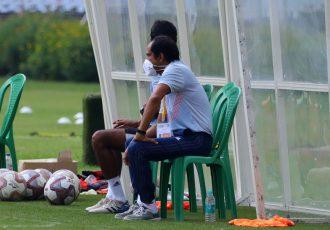 Bhawanipore FC head coach Sankarlal Chakraborty. (Photo courtesy: AIFF Media)