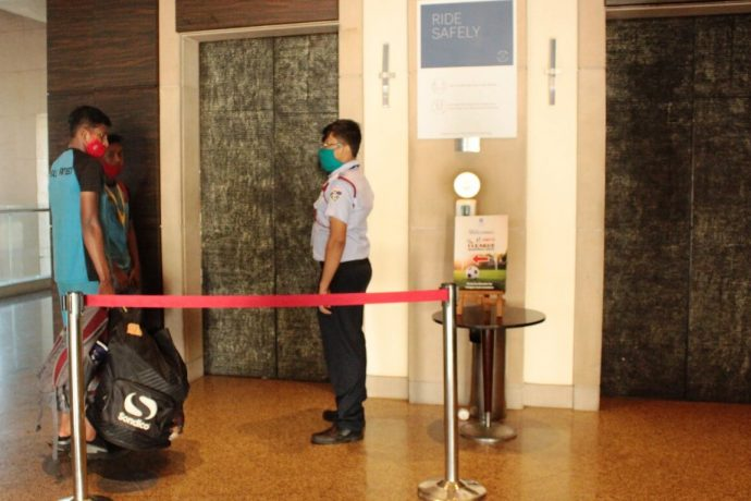 Strict security measures at the Hyatt Regency Kolkata. (Photo courtesy: AIFF Media)
