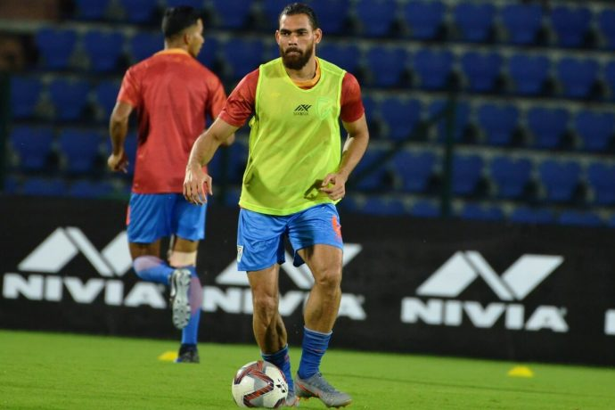 Indian national team defender Adil Ahmed Khan. (Photo courtesy: AIFF Media)