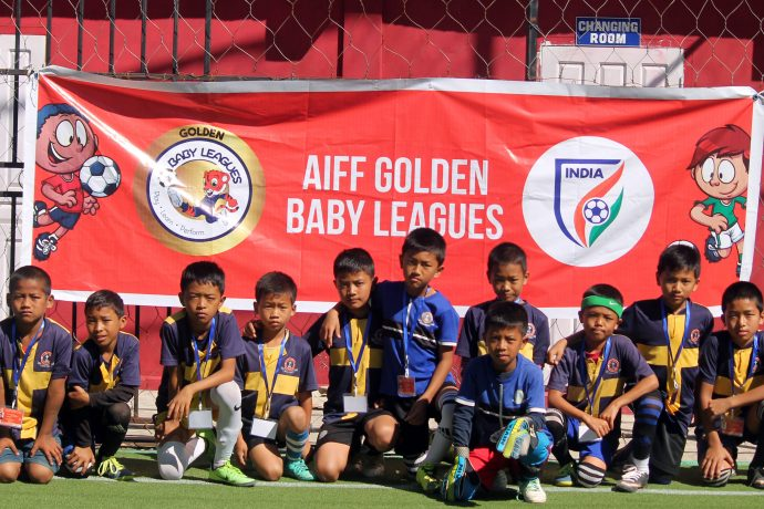 Participants of the AIFF Golden Baby Leagues. (Photo courtesy: AIFF Media)