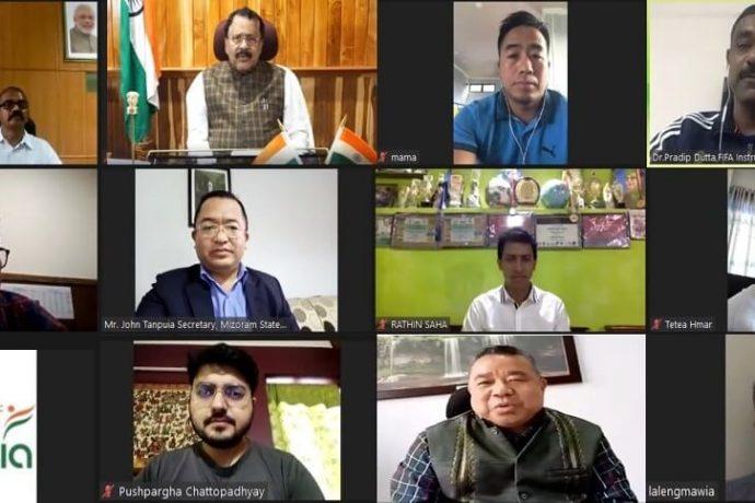 AIFF-SAI webinar for the State of Mizoram. (Photo courtesy: AIFF Media)