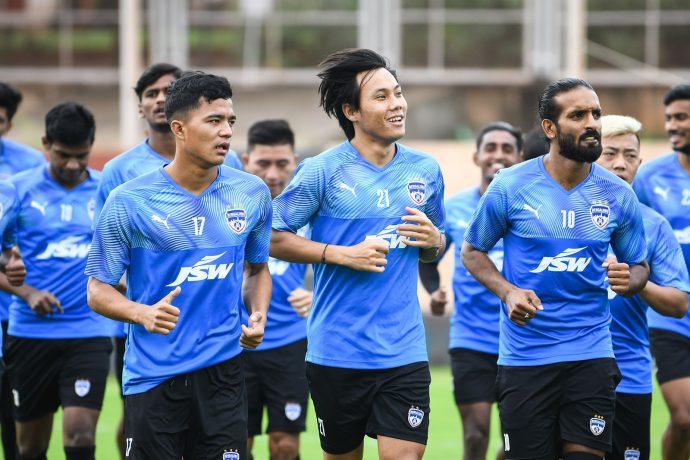 Bengaluru FC players in training at the Inspire Institute of Sport, in Bellary. (Photo courtesy: Bengaluru FC)