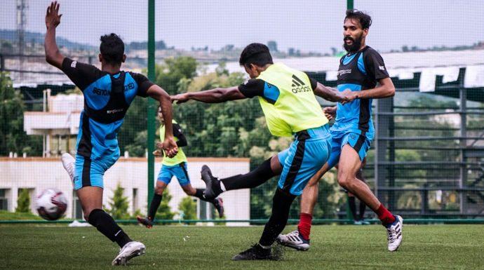 FC Bengaluru United training session. (Photo courtesy: I-League Media)
