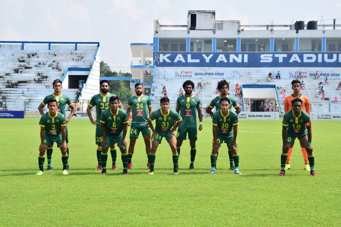 Garhwal FC players at the Hero I-League Qualifier 2020. (Photo courtesy: Garhwal FC)