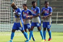 Bhawanipore FC players during their Hero I-League Qualifier 2020 match. (Photo courtesy: AIFF Media)