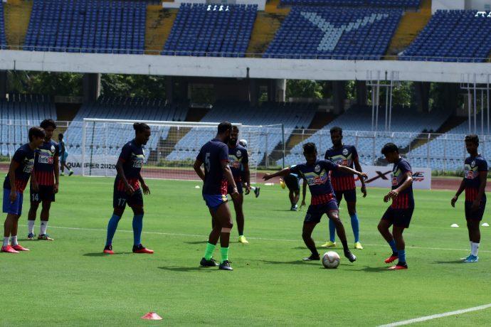 Bhawanipore FC training session. (Photo courtesy: AIFF Media)
