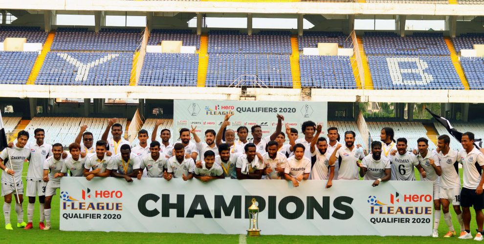 Hero I-League Qualifier 2020 champions Mohammedan Sporting Club. (Photo courtesy: AIFF Media)