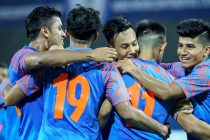 Indian national team players celebrating a goal. (Photo courtesy: AIFF Media)