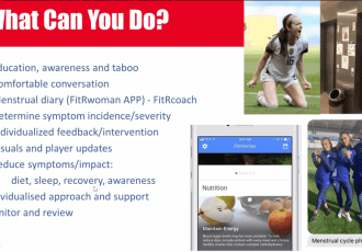 Presentation on women's football at the AIFF International Virtual Coaching Conference. (Image courtesy: AIFF Media)