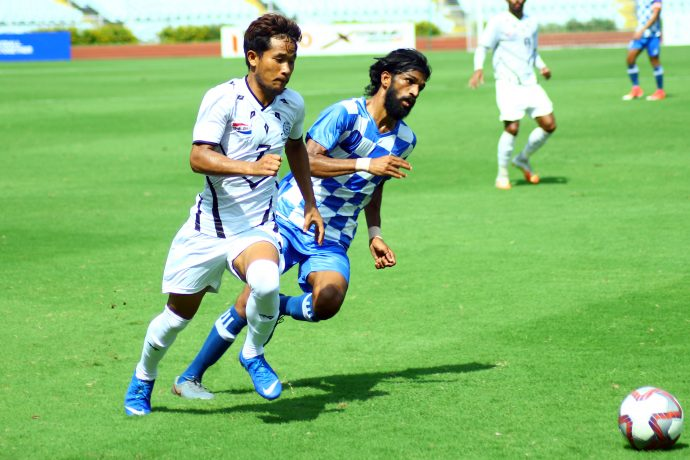 Hero I-League Qualifier 2020 match action between Mohammedan Sporting Club and ARA FC. (Photo courtesy: I-League Media)