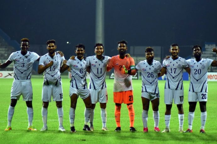 Mohammedan Sporting Club celebrating their promotion to the Hero I-League. (Photo courtesy: AIFF Media)