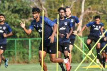 Bengaluru FC players in training at the Dempo SC training facilities in Carambolim, Goa. (Photo courtesy: AIFF Media)