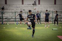 Chennaiyin FC right-back Reagan Singh in training. (Photo courtesy: Chennaiyin FC)