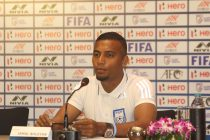 Bangladesh national team captain Jamal Bhuyan during a press conference. (Photo courtesy: AIFF Media)