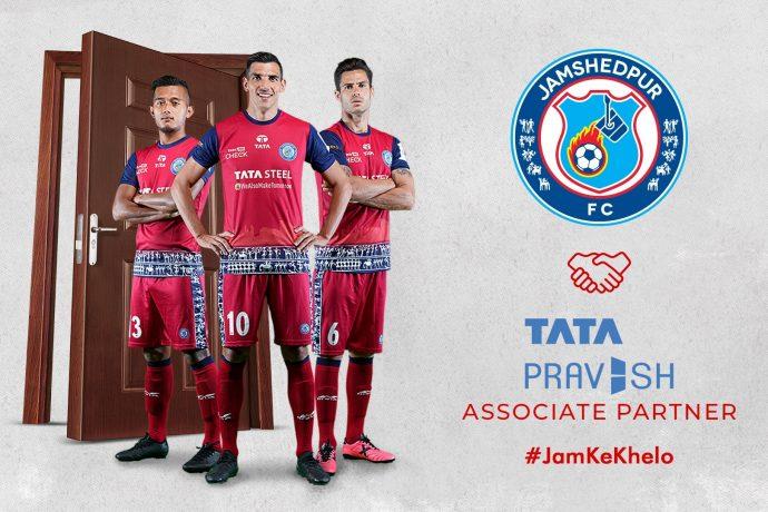 Tata Pravesh renews association with Jamshedpur FC as Associate Partner. (Image courtesy: Jamshedpur FC)