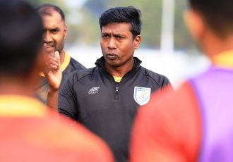 India MNT assistant coach and Indian Arrows head coach Shanmugam Venkatesh. (Photo courtesy: AIFF Media)