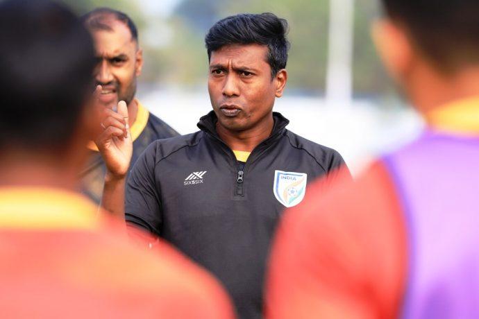 India MNT assistant coach and Indian Arrows head coach Shanmugam Venkatesh. (Photo courtesy: AIFF Media)