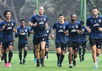 Bengaluru FC players in training on the first day of pre-season in Goa. (Photo courtesy: Bengaluru FC)