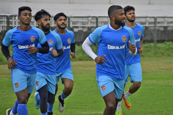 Gokulam Kerala FC players during a training session. (Photo courtesy: AIFF Media)