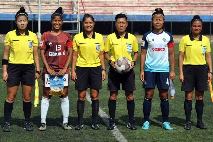 Pre-match photo ahead of the Hero Indian Women's League match Gokulam Kerala FC vs Sethu FC. (Photo courtesy: AIFF Media)