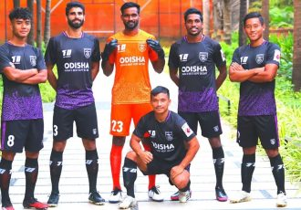 "Odisha FC launches new kits celebrating ""Khaanti Odia"" spirit. (Photo courtesy: Odisha FC)"