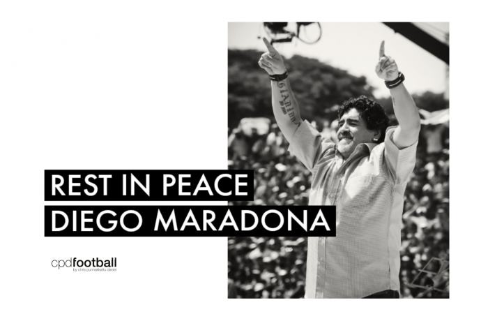 Rest in Peace Diego Armando Maradona - CPD Football