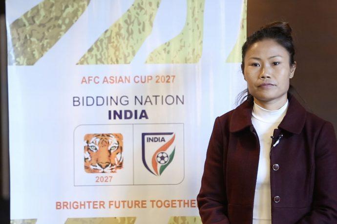 Indian Women's national team captain Ashalata Devi. (Photo courtesy: AIFF Media)