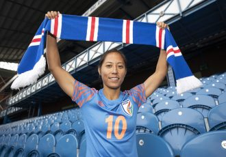 Indian women's national team and Rangers WFC star Bala Devi. (Photo courtesy: Rangers WFC)
