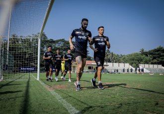 Chennaiyin FC players in training. (Photo courtesy: Chennaiyin FC)