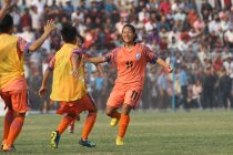 Indian Women's national team striker Dangmei Grace. (Photo courtesy: AIFF Media)