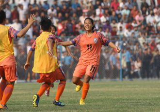 Indian Women's national team striker Dangmei Grace. (Photo courtesy: AIFF Media)