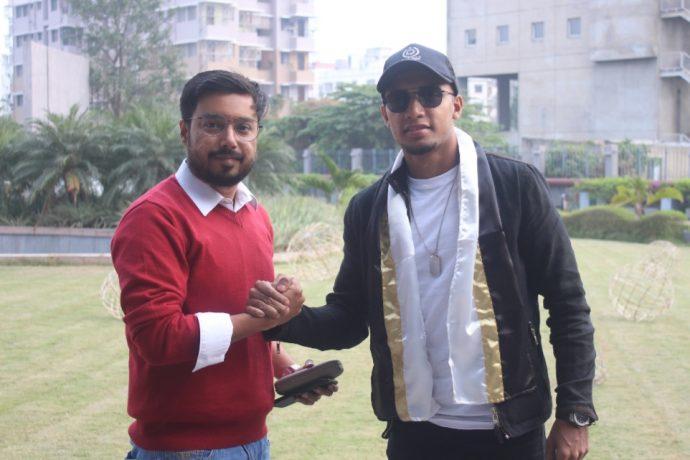 Bangladesh captain Jamal Bhuyan has reached Kolkata to join Mohammedan Sporting Club. (Photo courtesy: Mohammedan Sporting Club)