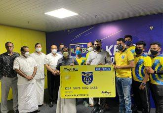 Kerala Blasters FC launch 'Blaster Card' in association with EWire Soft. (Photo courtesy: Kerala Blasters FC)