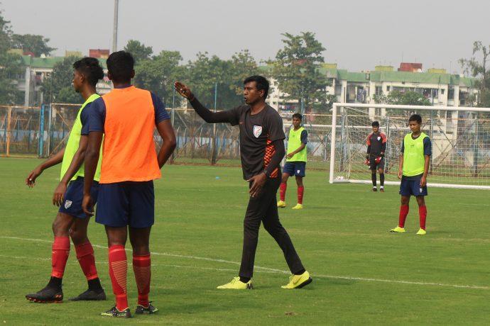 Indian national team assistant coach and Indian Arrows head coach Shanmugam Venkatesh. (Photo courtesy: AIFF Media)