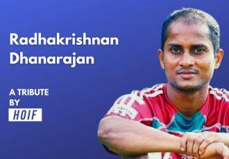 "Radhakrishnan Dhanarajan - A Tribute by ""Humans of Indian Football"". (Image courtesy: Humans of Indian Football)"